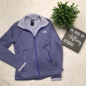 Purple North Face Zip Up